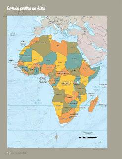Apoyo Primaria Atlas de Geografía del Mundo 5to. Grado Capítulo 3 Lección 1 División Política de África