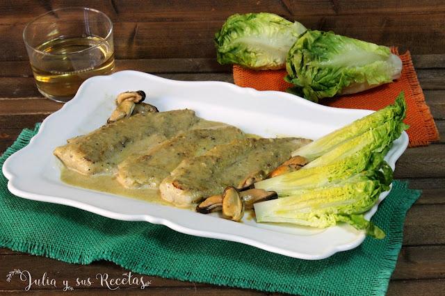 Pescada en salsa de mejillones. Julia y sus recetas