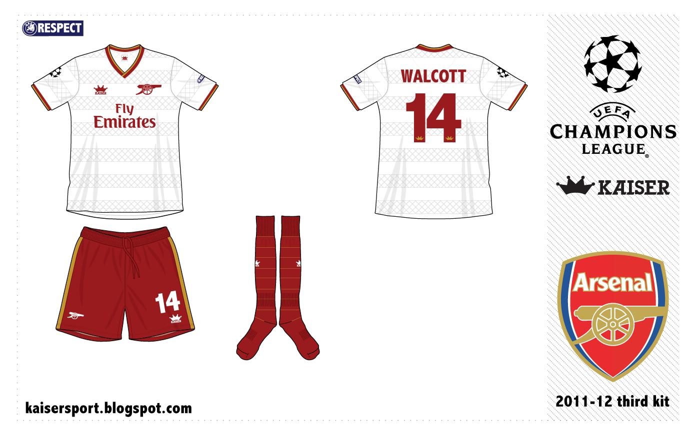 Kaiser Sport: Arsenal Fantasy Kits