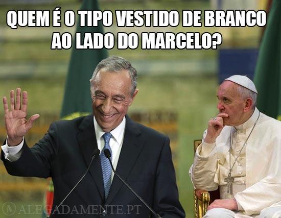 Papa Francisco e Marcelo Rebelo de Sousa – Quem é o tipo Vestido de Branco ao lado do Marcelo?