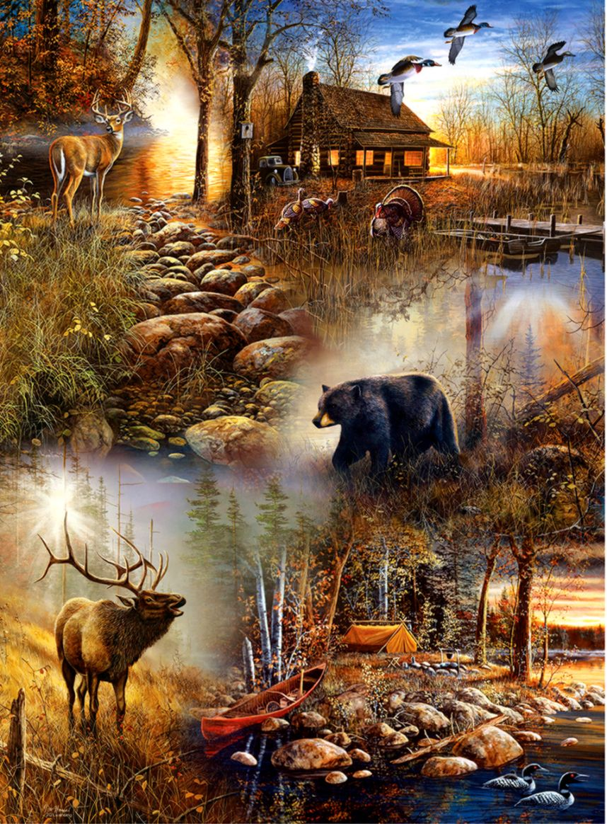 Forest Collage 1000pc Jigsaw Puzzle by SunsOut