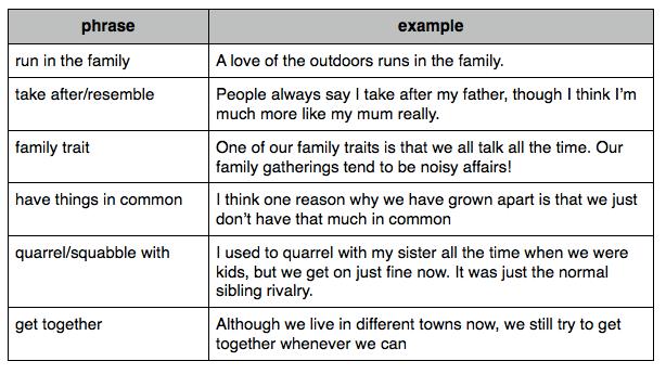 Very short essay describing your family member