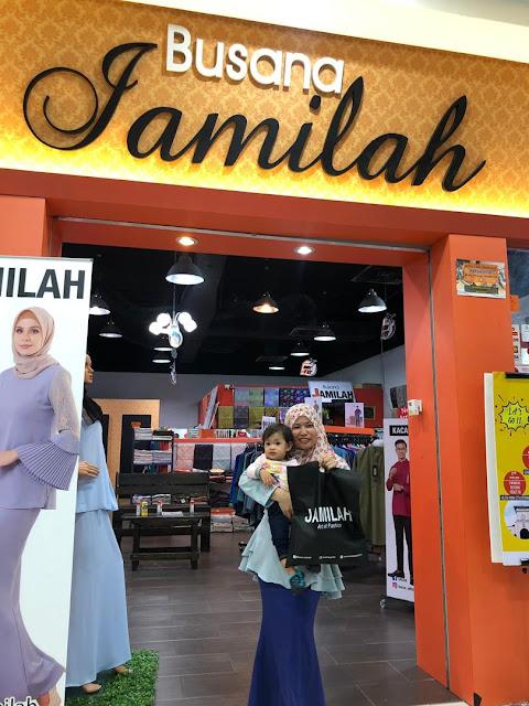 Yeay Ibu dan Adira dah settle shopping baju raya Busana Jamilah