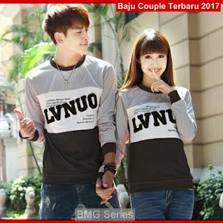 BA19 Baju Couple Lvnuo Hitam Model Couple Care BShop