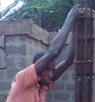 thief goes numb construction site akwa ibom