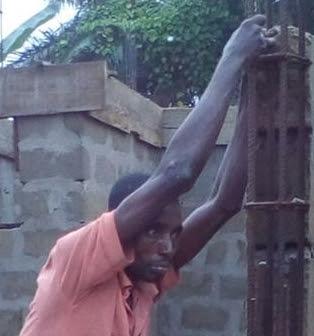 thief goes numb construction site akwa ibom