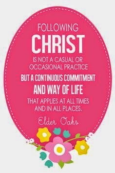 Following Christ is not a casual or occasional practice!