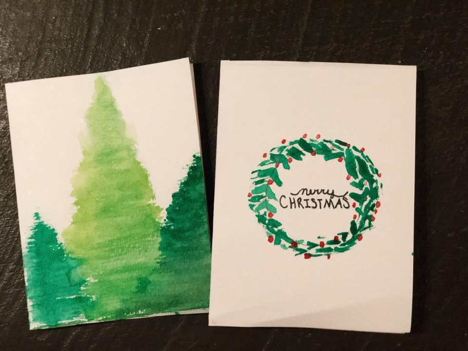 DIY Watercolor Christmas Cards | Kristen Rose