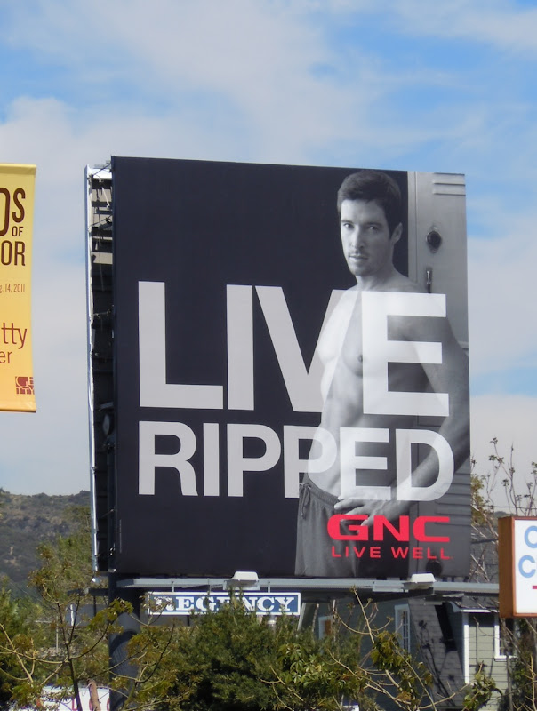 Live Ripped GNC billboard