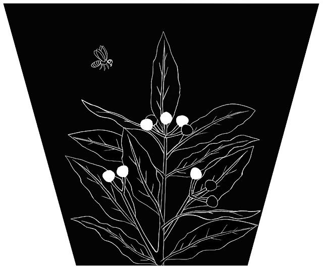 una abeja, una planta