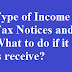 Type of Income Tax Notices and What to do if receive?