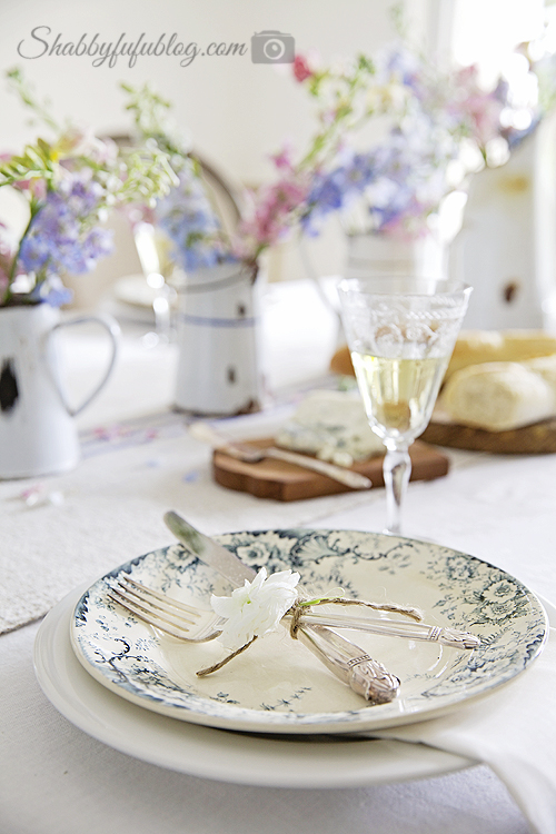 french plates antique silverware & How To Layer Plates In A Tablescape - shabbyfufu.com