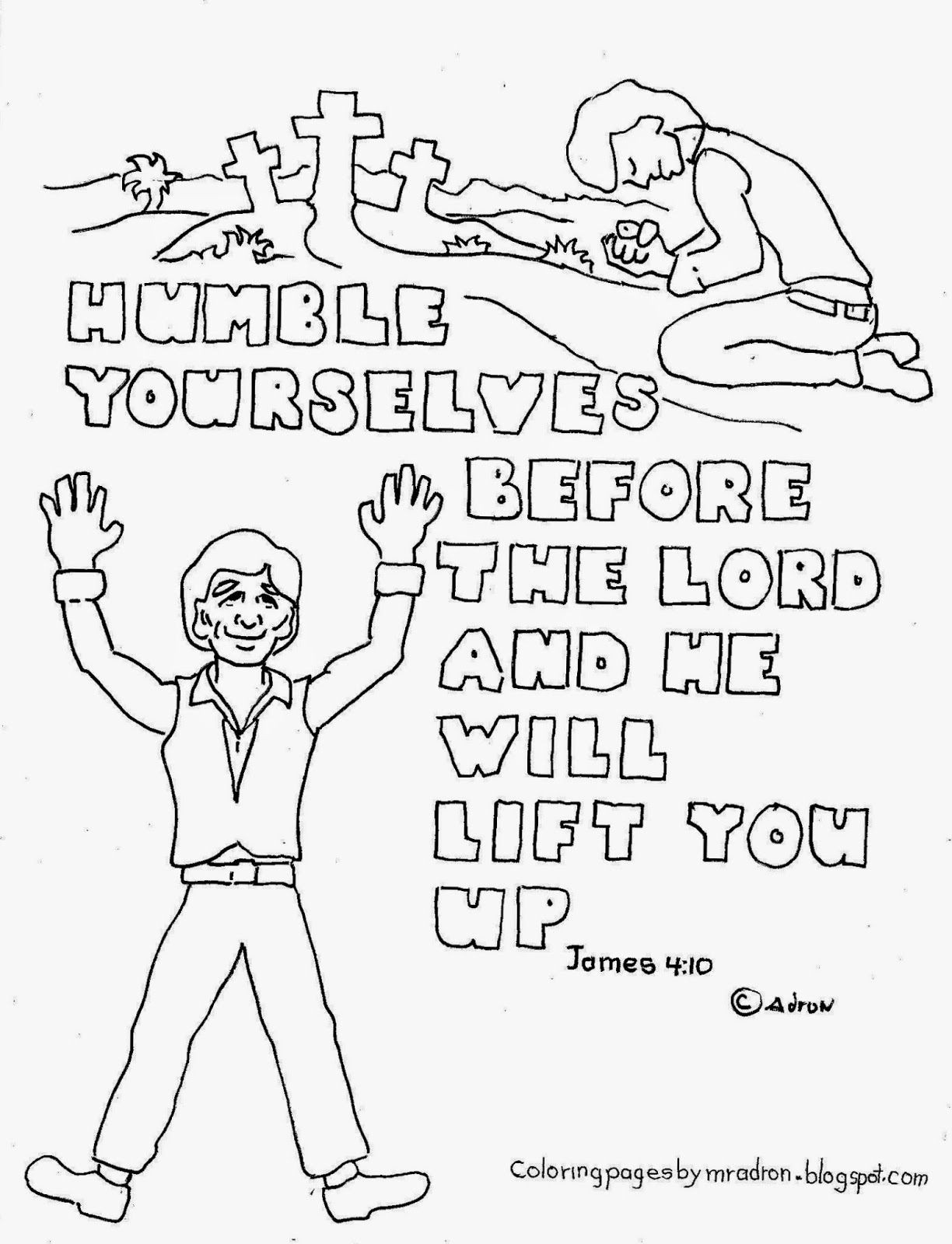 coloring pages for kids by mr  adron  humble yourselves james 4 10 free printable coloring page