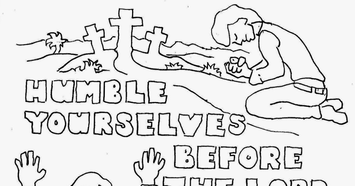 Coloring Pages for Kids by Mr. Adron: Humble Yourselves