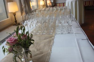 Hochzeitsempfang, Hochzeitsmotto aus M wird M, Pastell und Vintage im Riessersee Hotel Garmisch-Partenkirchen, Bayern