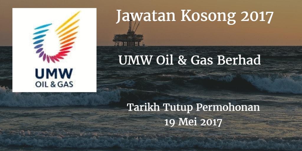 Jawatan Kosong UMW Oil & Gas Berhad 19 Mei 2017