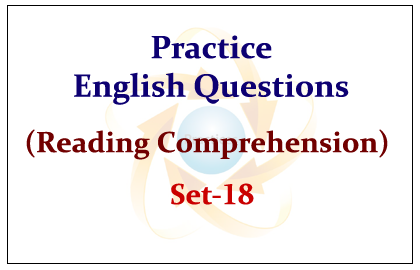 SBI PO Exam 2015- Practice English Questions set-8