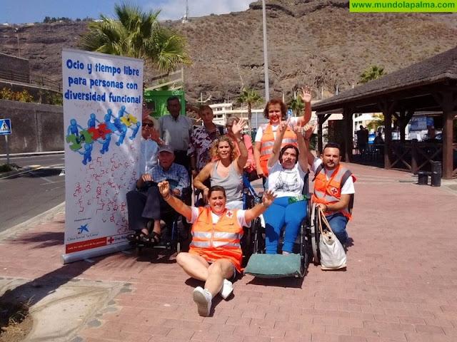 """Cruz Roja continúa el proyecto """"Ocio y Tiempo Libre para Personas con Diversidad Funcional"""" en La Palma"""