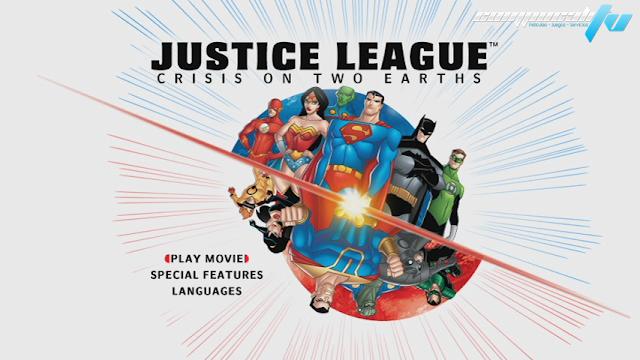 Liga de la Justicia Crisis en las dos Tierras DVDR NTSC Español Latino Menú Full
