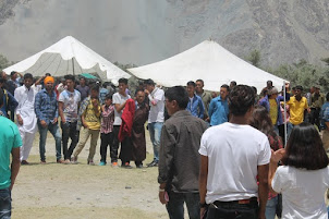 "Crowd at ""Sand Dunes Festival"" at Hunder in Nubra Valley of Ladakh."