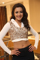 Catherine Tresa in a White Glittering Crop Top Black Leggings  Exclusive 035.JPG