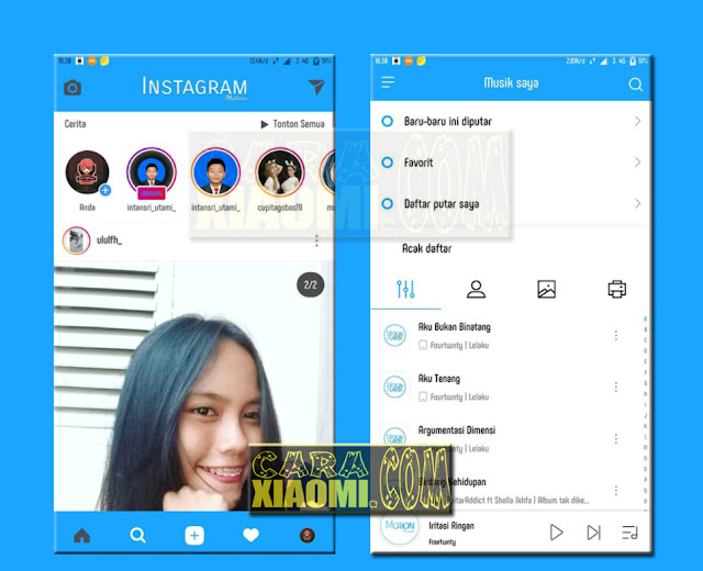 Download Link Tema Untuk Xiaomi Redmi MIUI V9 / V8 Mtz Tema Mation Blue Terbaru