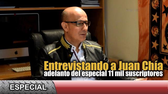 En busca de lo desconocido, entrevista a Juan Chía