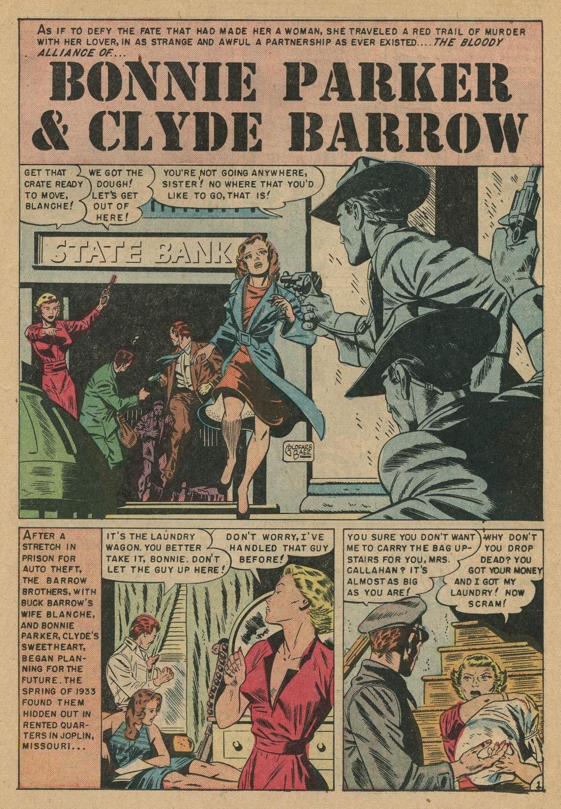 Bonnie and clyde comic book plus comics comic books