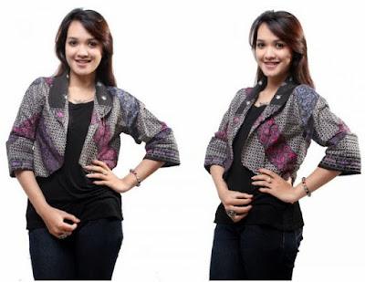 Cardigan Batik Modern Pendek