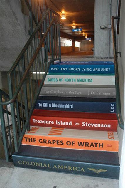 Membuat anak tangga seperti sampul buku
