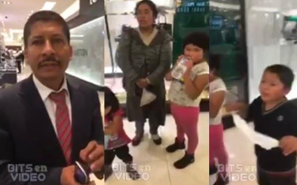 Corren a una familia de Palacio de Hierro Perisur por su apariencia a indígena. (VIDEO)