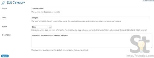 WordPress Category Excerpt