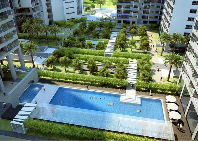 Bể bơi tại chung cư Eco Lake View