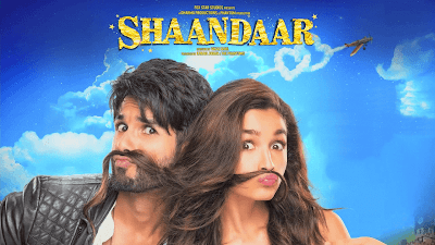 Shahid Kapoor And Alia Bhatt In Shaandaar Movie Poster