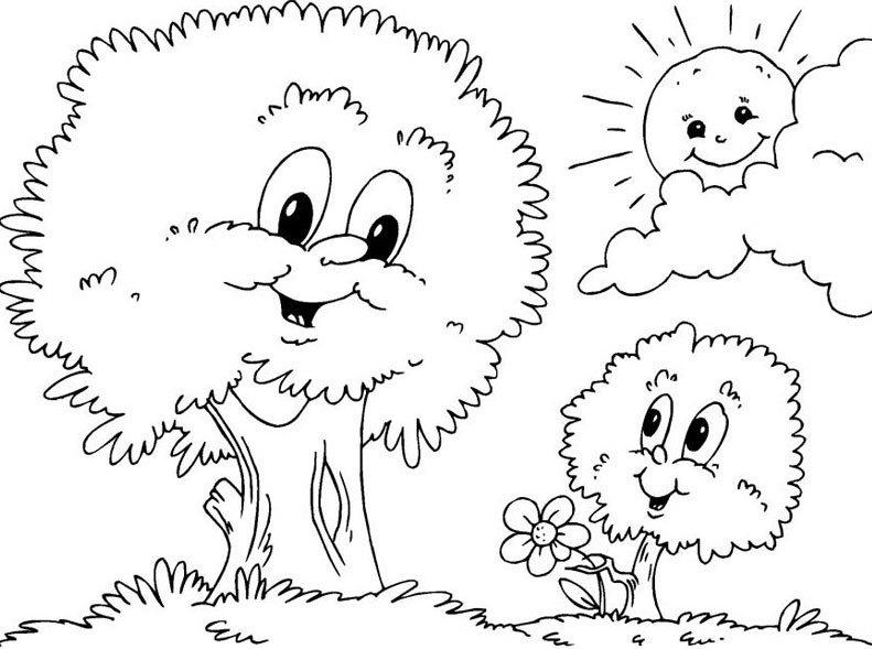 Imagens De Arvore Para Imprimir: Desenhos De árvores Para Colorir E Imprimir