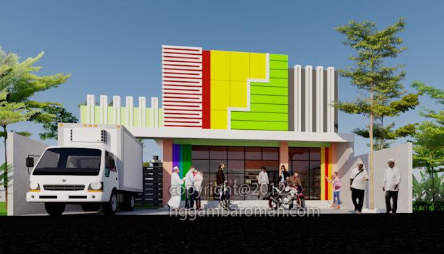 Desain Rumah Toko (Ruko) 1 Lantai di Blitar, Agus Suparjiono