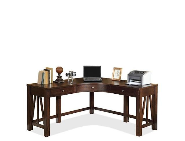 wooden corner desk components for home office design
