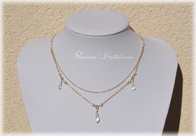 bijoux mariée glamour et précieux