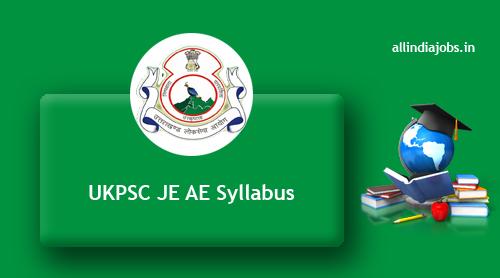 Ukpsc Je Ae Syllabus 2017 2018 Pdf Download Assistant