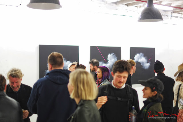 Neon cloudscapes of Brooklyn Whelan at China Heights Gallery - Photography by Kent Johnson for Street Fashion Sydney.