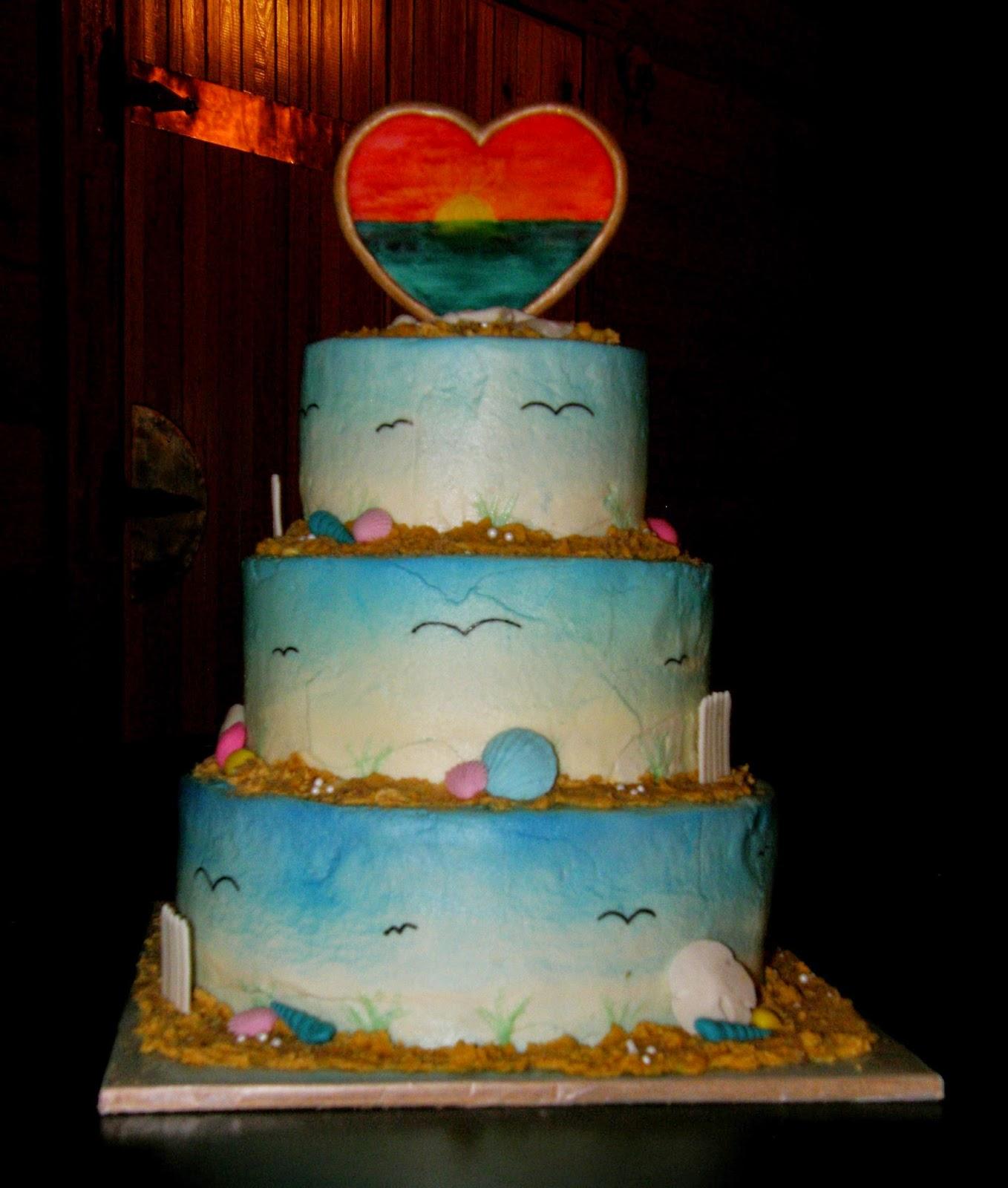 Sunset Beach Wedding Ideas: Mrs. Lydia's Kitchen: Beach Sunset, Wedding Cake