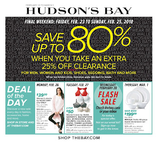 Hudson's Bay weekly Flyer February 23 - March 1, 2018