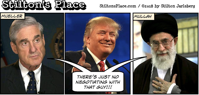 stilton's place, stilton, political, humor, conservative, cartoons, jokes, hope n' change, mueller, mullah, iran deal, nukes, obama, kerry