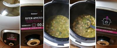 Zubereitung Grünes Curry mit Hähnchen und Gemüse mit der Cook 4 me