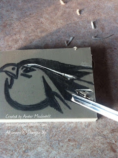 Warhawk stamp carving - Undefined