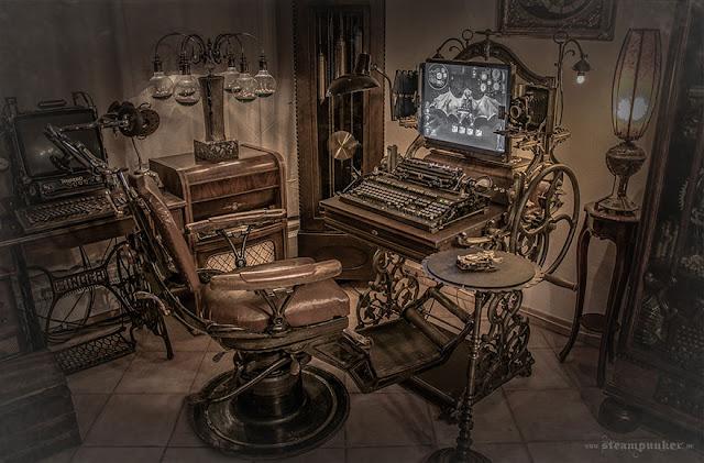 Computadora estilo steampunk