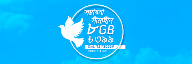 GrameenPhone announced 8GB 3G internet data at tk 399 for 14 days. This offer is so exciting offer for each gp prepaid and postpaid customer. This offer so exciting for long time validity. This offer available for GrameenPhone 2G and 3G users.  We hope this offer one of the best offer for GP Prepaid and Postpaid user. Now GrameenPhone user can enjoy this offer just dialing *121*3059#