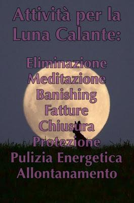 attività luna calante lunazioni