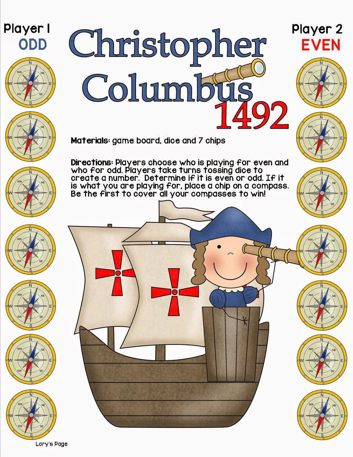 Lory S 2nd Grade Skills Columbus Day Fun Amp Freebies