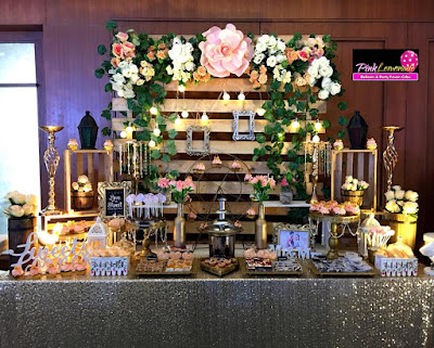 Rustic Themed Wedding Dessert Buffet